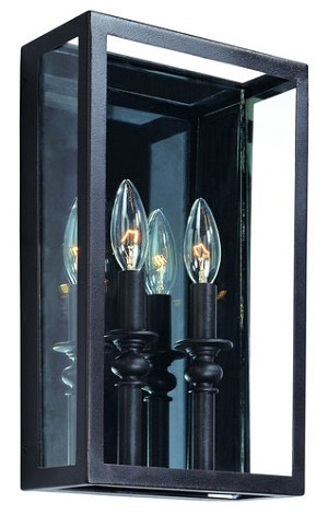 "Morgan Collection 2-Light 14"" Deep Bronze Wall Sconce with Clear Glass B9992DB"
