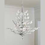 "Branch of Light Design 10-Light 30"" Chrome Chandelier with Clear European or Swarovski Crystal SKU# 10633"