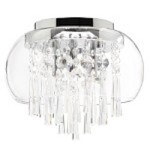 Catharina Design 3-Light 12'' Glass Ceiling Mount or Hanging Pendant Chandelier with European or 30% Lead Crystals CAT-12-3 SKU# 11362