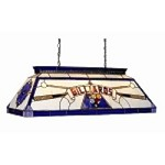 "Bistro Collection 4-Light 44"" Blue Pool Table/Billiard Light with Stained Glass CF BILLIARD BLU"