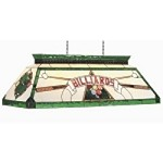 "Bistro Collection 4-Light 44"" Green Pool Table/Billiard Light with Stained Glass CF BILLIARD GRN"