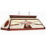 "Bistro Collection 4-Light 44"" Red Pool Table/Billiard Light with Stained Glass CF BILLIARD RED"