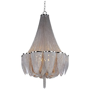 "Chantilly Collection 14-Light 62"" Chandelier with Jewelry Chain 21468NKPN"
