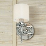 "Collins Collection 1-Light 10"" Polished Nickel Wall Sconce with Dimond Crystal B1921PN"
