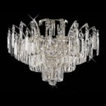 "Flamingo Design 6-Light 16"" Gold or Chrome Ceiling Flush Mount with European or Swarovski Crystals SKU# 10558"
