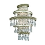 "Diva Collection 2-Light 16"" Silver and Gold Leaf Wall Sconce with Crystal Drops 132-12"