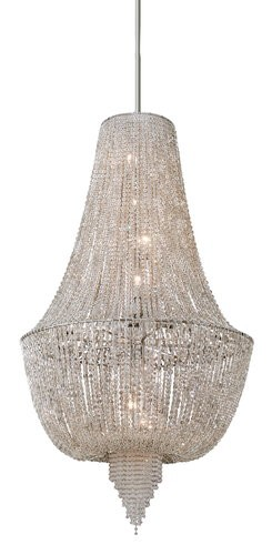 "Vixen Collection 8-Light 60"" Ornate Chandelier with Jewelry Chain and Crystal Beads 141-78"