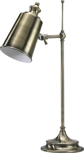 "Brass & Iron 1-Light 20"" Adjustable Table Lamp 01953"