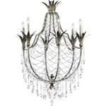 "Luciana 6-Light 39"" St.Regis Bronze Wrought Iron Chandelier with Crystals 6492-6-33"
