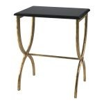 Black With Gold Legs Accent Table 01319