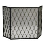 Gold Mesh Fire Screen 02003