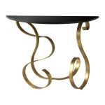 "Ribbon 35"" Black and Gold Console Table 03077"