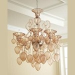 "Bella Vetro 6-Light 35"" Blush Blown Glass Chianti Chandelier 05503"