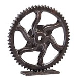 Bronze Gear Sculpture 04731