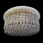Bagel Design Flush Mount dressed with European or Swarovski crystals WGL24FMBBCY SKU# 10357