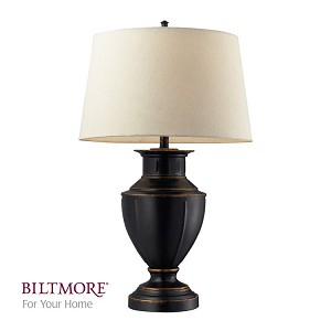 "Cornelius Collection 1-Light 32"" Dark Bronze Table Lamp with Cream Shade D2245"