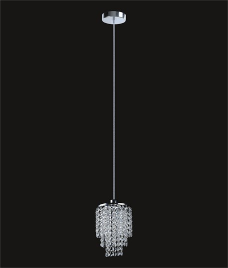 "Hollywood Design 1-Light 6"" Round Mini Pendant with Clear European, Swarovski, or Colored Crystals SKU# 11140"