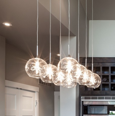 Starburst Series Clear Multi-Light Pendant E20107-24