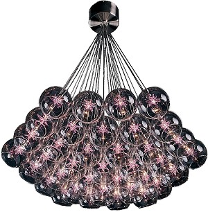 Starburst Series Violet Multi-Light Pendant Chandelier E20112-21