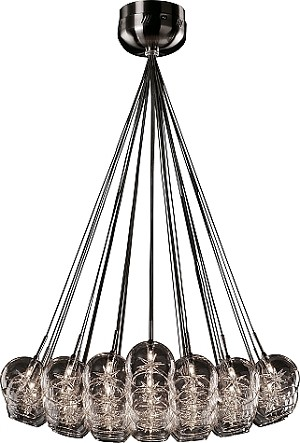 Starburst Series Clear Multi-Light Pendant Chandelier E20112-24