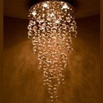 "Cascada 6-Light 20"" Egyptian Crystal Modern Flush Mount Chandelier Pendant E20796-20"