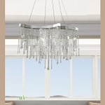 "Crystal Sensation 8-Light 29"" Egyptian Crystal Pendant Chandelier E20803-20"