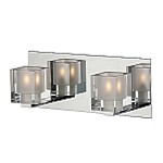 "Blocs Series Polished Chrome 2-Light 11"" Bathroom Vanity Light E22032-18"