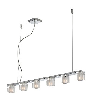 "Blocs Series Polished Chrome 6-Light 36"" Linear Island Pendant E22034-18"