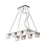 "Blocs Series Polished Chrome 8-Light 23"" Pendant Chandelier E22036-18"