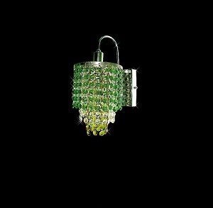 "Hollywood Design 1-Light 6"" Round Wall Sconce  European or Swarovski Spectra Crystal SKU# 11142"