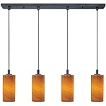 Carte Collection Contemporary Oil Rubbed Bronze finish Multi Pendant with an Incandescent Bulb - E92054-14