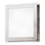 "Eos Collection 4 Light 15"" Matte Nickel & Chrome Wall/Ceiling Light 82218A"