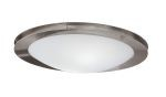 "Sirio Collection 2-Light 13"" Matte Nickel & Chrome Ceiling Light 82691A"