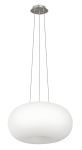 "Optica Collection 2-Light 18"" Matte Nickel Pendant Light 86815A"