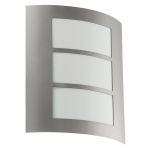 "City Collection 1 Light 11"" Stainless Steel Wall Light 88139A"