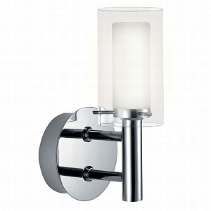 "Palermo Collection 1-Light 8"" Chrome Wall Lamp 88193A"
