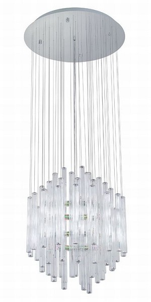 "Alexandria Collection 12 Light 20"" Chrome Chandelier 89006A"