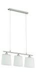 "Cavalla Collection 3 Light 59"" Matte Nickel Trestle Hanging Light 89471A"