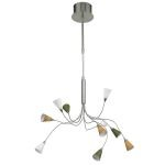 "Nico Collection 10-Light 18"" Matte Nickel Pendant 89992A"