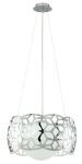 "Oxana Collection 1-Light 17"" Chrome Pendant 90438A"