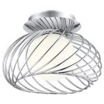 Thebe Collection 1 Light Chrome Wall/Ceiling Light 91166A