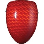 "Arco Baleno Collection 1-Light 8"" Scarlet Red Hand Blown Glass Wall Sconce 426-1SC"