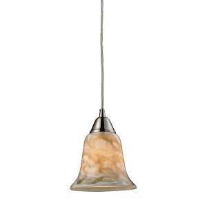 "Confections/Nougat Collection Satin Nickel 1-Light 7"" Pendant 31130/1NG"