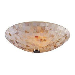 "Capri Collection 2-Light 12"" Mosaic Cappa Shell Ceiling Fixture 10140/2"