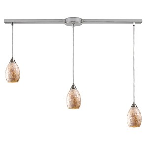 "Capri Collection 3-Light 36"" Mosaic Cappa Shell Linear Pendant 10141/3L"