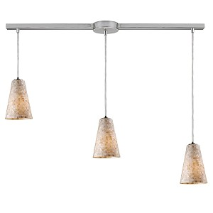 "Capri Collection 3-Light 36"" Mosaic Cappa Shell Linear Pendant 10142/3L"