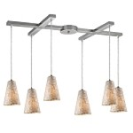 "Capri Collection 6-Light 33"" Mosaic Cappa Shell Linear Pendant 10142/6"