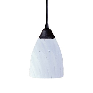 "Classico Collection 1-Light 5"" Dark Rust Mini Pendant with Simply White Glass 406-1WH"
