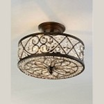 "Amherst Collection 4-Light 13"" Antique Bronze Crystal Semi-Flush Mount 11286/4"