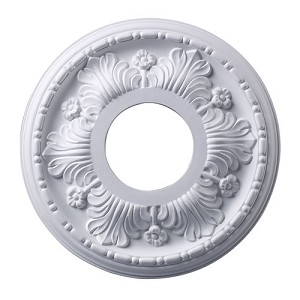 "Acanthus Collection 11"" White Ceiling Medallion M1000WH"